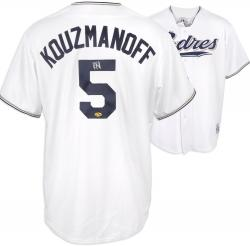 Kevin Kouzmanoff San Diego Padres Autographed White Replica Jersey