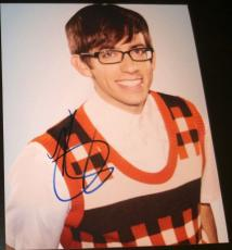 "Kevin Mchale Signed Autograph Brand New Season ""glee"" Cute Promo 8x10 Photo Coa"