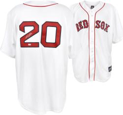 Kevin Youkilis Boston Red Sox Autographed White Replica Jersey