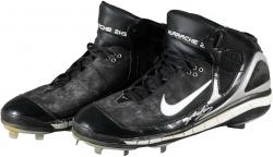 Kevin Youkilis Boston Red Sox Autographed Game-Used Nike Cleats - Mounted Memories