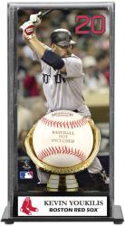Kevin Youkilis Boston Red Sox Baseball Display Case with Gold Glove & Plate - Mounted Memories