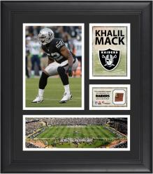 Khalil Mack Oakland Raiders Framed 15'' x 17'' Collage with Game-Used Football