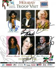 Kid Rock/Kellie Pickler +4 Signed USO Holiday Troop Auto 8x10 Photo PSA #I88403