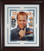 "Kiefer Sutherland ""24"" Signed Cigar Aficionado Fra"