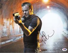 Kiefer Sutherland Autographed Signed 11x14 24 Photo PSA DNA