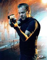 Kiefer Sutherland Signed 24 Authentic Autographed 11x14 Photo PSA/DNA #AB39538