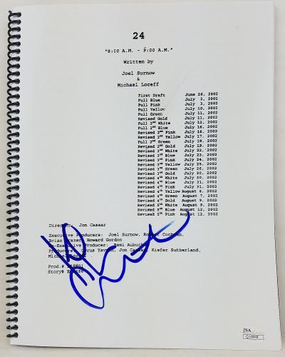 Kiefer Sutherland Signed '24' TV Show 8:00-9:00 AM Episode Script JSA #Q10848