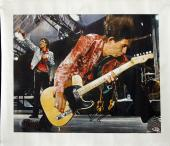 Kieth Richards The Rolling Stones Signed 16x20 Canvas BAS #A05142