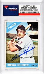 KILLEBREW, HARMON AUTO (1966 TOPPS # 120) CARD - Mounted Memories