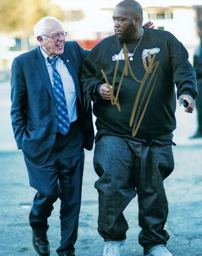 Killer Mike With Bernie Sanders Autographed Signed Photo AFTAL UACC RD RACC TS