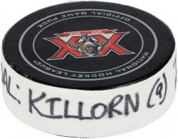 Alex Killorn Tampa Bay Lightning 12/23/13 Game-Used Goal Puck at Florida Panthers - Mounted Memories