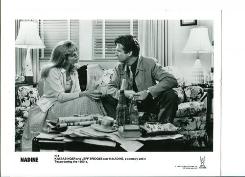 Kim Basinger Jeff Bridges Nadine Original Movie Still Press Photo