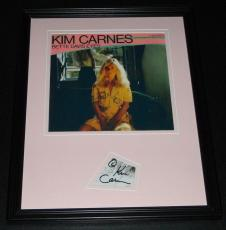Kim Carnes Signed Framed 11x14 Photo Display Bette Davis Eyes