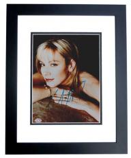 Kim Cattrall Autographed 8x10 Photo BLACK CUSTOM FRAME - Sex and the City Actress