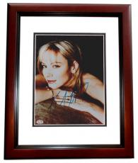 Kim Cattrall Autographed 8x10 Photo MAHOGANY CUSTOM FRAME - Sex and the City Actress