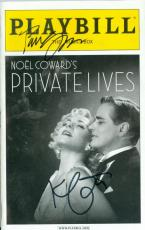 Kim Cattrall Paul Gross autographed Broadway Playbill Private Lives