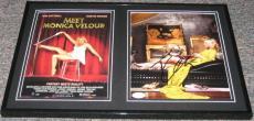 Kim Cattrall SEXY Signed Framed 12x18 Photo Set JSA Meet Monica Velour