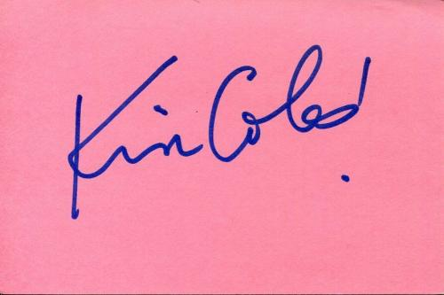 Kim Coles Sexy Living Single Geena Davis Show In Living Color Signed Autograph