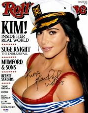 "Kim Kardashian Autographed 11"" x 14"" Rolling Stone Cover Photograph - PSA/DNA"