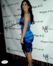 Kim Kardashian Signed Authentic Autographed 8x10 Photo JSA COA