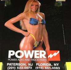 "Kim Kimi Kudla Signed Vintage Power Auto 20x27"" Poster w/ lengthy inscription"