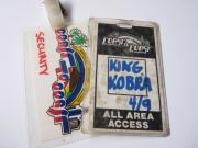 King Kobra Coast To Coast Tour Concert Issued Used Backstage Pass Laminate