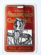 King Kobra Hammerjacks Tour Concert Issued Used Backstage Pass Laminate #1