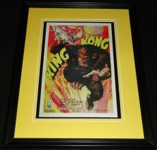 King Kong Framed 11x14 Poster Display Official Repro Fay Wray