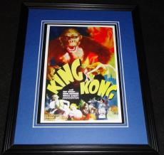 King Kong Framed 11x14 Poster Display Official Repro Fay Wray Robert Armstrong