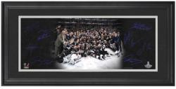 Los Angeles Kings 2012 NHL Stanley Cup Champions Mini Framed Panoramic with Facsimile Signatures - Mounted Memories