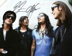 Kings Of Leon (4) Followill Brothers Signed 11X14 Photo PSA #W04367