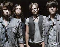 Kings Of Leon (4) Followill Brothers Signed 11X14 Photo PSA #W04368