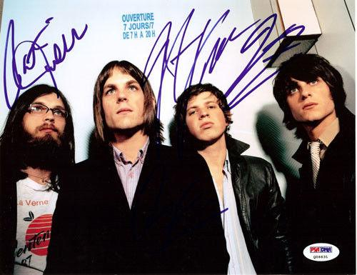 Kings of Leon Authentic Autographed Signed 8x10 Photo Caleb Followill PSA Q06631
