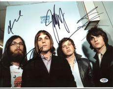 Kings Of Leon (Caleb, Nathan, Jared, Matthew) Signed 11X14 Photo PSA #AB03336