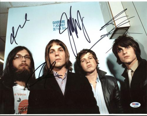 Kings Of Leon (Caleb, Nathan, Jared, Matthew) Signed 11X14 Photo PSA #AB03336