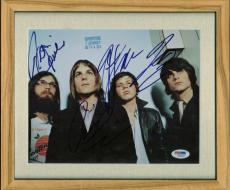 Kings Of Leon Caleb Nathan Jared Matthew Signed Autographed 11X14 Photo PSA/DNA