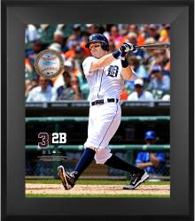 "Ian Kinsler Detroit Tigers Framed 20"" x 24"" Gamebreaker Photograph with Game-Used Ball"