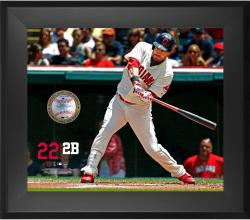 "Jason Kipnis Cleveland Indians Framed 20"" x 24"" Gamebreaker Photograph with Game-Used Ball"