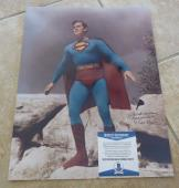 Kirk Alyn 1st DC Superman  Signed Autographed 11x14 Photo Beckett Certified #1