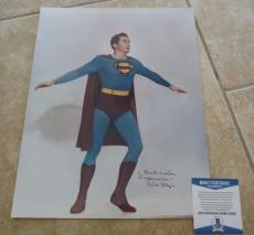 Kirk Alyn 1st DC Superman  Signed Autographed 11x14 Photo Beckett Certified #2