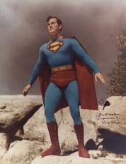 KIRK ALYN SIGNED AUTOGRAPHED 11x14 PHOTO FIRST SUPERMAN BECKETT BAS