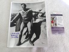 """Kirk Alyn """"Superman"""" Signed and Inscribed 8×10 Photo JSA"""