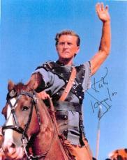 Kirk Douglas autographed laser photo 8x10