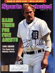 Kirk Gibson Detriot Tigers Autographed Hard Times for Free Agents Sports Illustrated Magazine