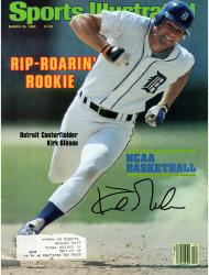 Kirk Gibson Detriot Tigers Autographed Rip-Roaring Rookie Sports Illustrated Magazine