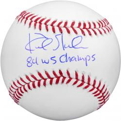 """Kirk Gibson Los Angeles Dodgers Autographed Baseball with """"1984 WS Champs"""" Inscription"""