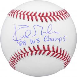 """Kirk Gibson Los Angeles Dodgers Autographed Baseball with """"1988 WS Champs"""" Inscription"""