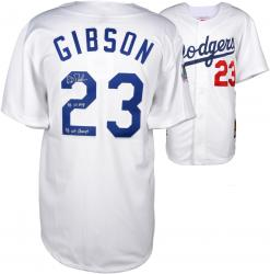 "Kirk Gibson Los Angeles Dodgers Autographed White Mitchell & Ness Jersey with ""1988 NL MVP & 1988 WS Champs"" Inscription"