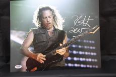 Kirk Hammett signed 11x14 autographed photo Metallica PSA/DNA Y85325
