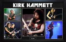 Kirk Hammett Signed 11x14 Metallica Photo Custom Display AFTAL UACC RD COA PSA
